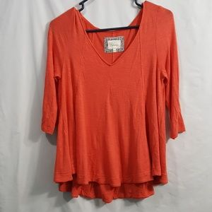 Deletta Coral 3/4 sleeve swing top